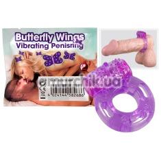 Виброкольцо Butterfly Wings Vibrating Penisring, фиолетовое
