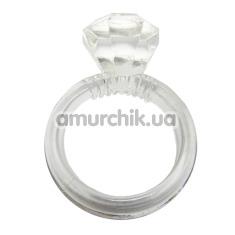 Эрекционное кольцо Diamond Silicone Cockring - Фото №1