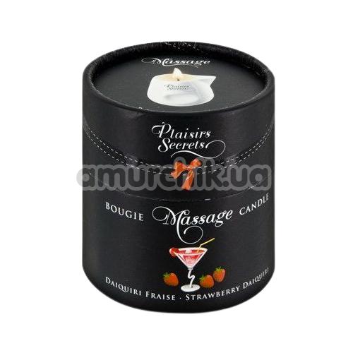 Массажная свеча Plaisir Secret Paris Bougie Massage Candle Strawberry Daiquiri - клубничный дайкири, 80 мл