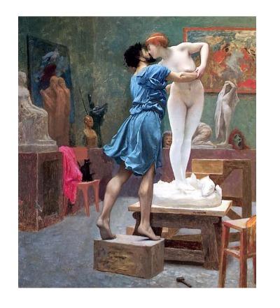 Пигмалион и Галатея. Жан-Леон Жером. 1890 г.