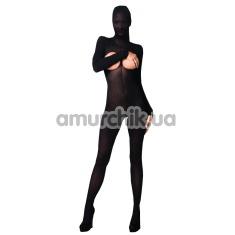 Комбинезон плотный с капюшоном, черный - Фото №1