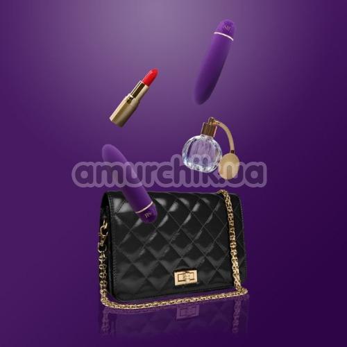 Вибратор Rianne S Classique Vibe Stud с розовой сумкой, фиолетовый