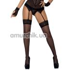 Чулки Obsessive Picantina, черные - Фото №1