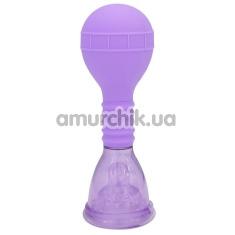 Вакуумная помпа для клитора Advanced Clit Pump, фиолетовая - Фото №1