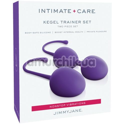 Набор вагинальных шариков Intimate + Care Kegel Trainer Set, фиолетовый