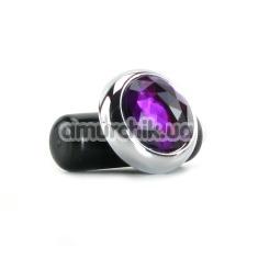 Клиторальный вибратор Precious Gem c фиолетовым кристаллом - Фото №1