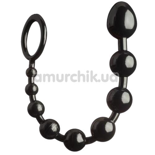 Анальная цепочка Loveshop Silicone Anal Beads, черная - Фото №1