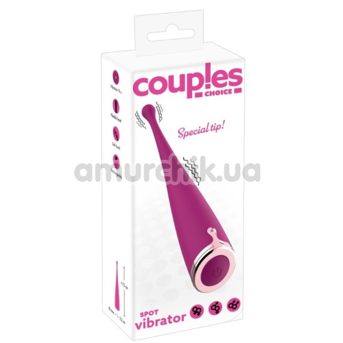 Вибратор Couples Choice Spot Vibrator, розовый