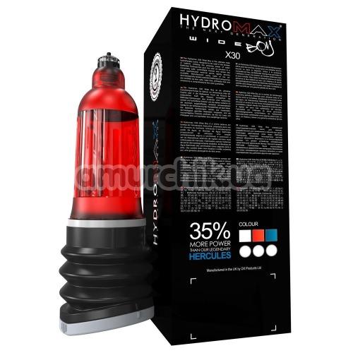 Гидронасос для увеличения пениса Bathmate Hydromax X30 Wide Boy, красный