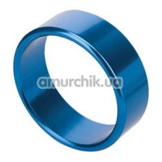 Эрекционное кольцо Rocket Rings голубое, 4 см - Фото №1