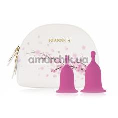 Набор из 2 менструальных чаш Rianne S Femcare, розовые - Фото №1