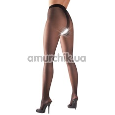 Колготки Cottelli Collection Strumpfhose Ouvert Tights, чёрные - Фото №1