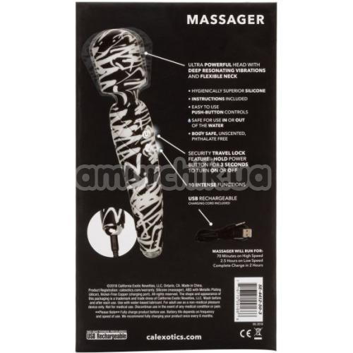 Универсальный массажер Hype Massager, черно-белый