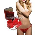 Комплект Admas The Sexy Stories красный: трусики-стринги + фиксаторы - Фото №1