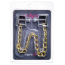 Зажимы для сосков квадратные с цепочкой Lucky Bay Nipple Play Gold Chain, золотые - Фото №2