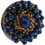 Анальная пробка с синими кристаллами Seamless Butt Plug Starting Silver Metal S, серебряная - Фото №7