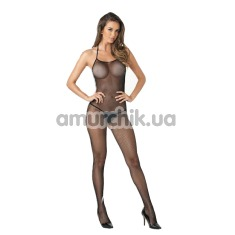 Комбинезон Halter Fishnet Crotchless Bodystocking, черный - Фото №1