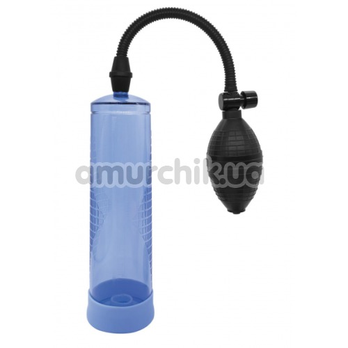 Вакуумная помпа Power Pump Penis Enlarger, голубая - Фото №1