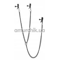 Зажимы для сосков и клитора Blaze Deluxe Nipple & Clit Clamps, чёрные - Фото №1