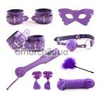 Бондажный набор Loveshop BDSM Bondage Restraints Set, фиолетовый - Фото №1