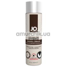 Лубрикант JO Silicone Free Hybrid Personal Lubricant Warming с согревающим эффектом - кокос, 120 мл - Фото №1