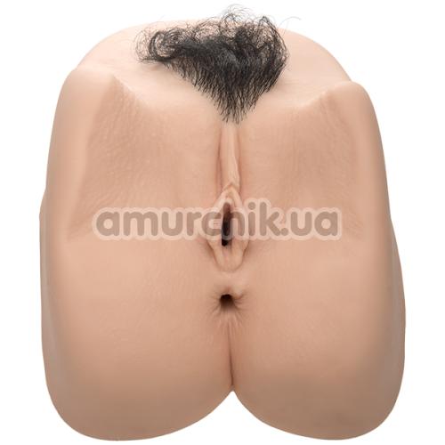 Искусственная вагина и анус с вибрацией Sasha Grey, телесная