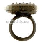Кольцо-насадка вибрирующее SiliconSoft Cockring, черное - Фото №1