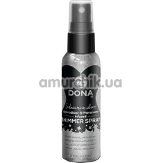 Спрей для тела с блестками DONA Shimmer Spray Silver, серебряный - Фото №1