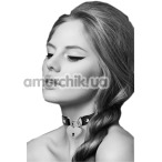 Ошейник Bijoux Pour Toi Heart Lock, чёрный - Фото №1