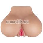 Искусственная вагина с вибрацией Realstuff Beautiful Behind, телесная - Фото №1
