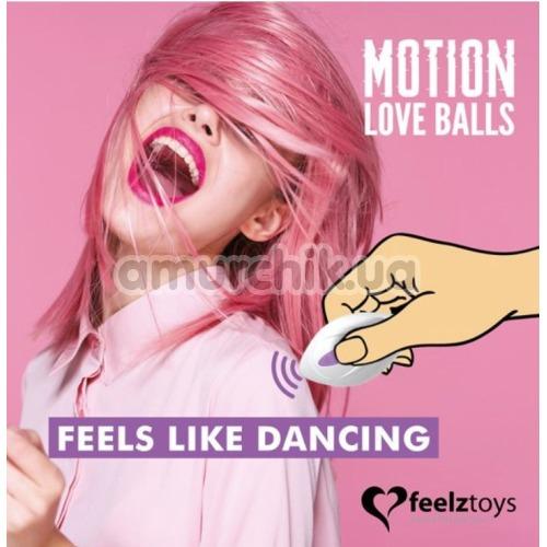 Виброяйцо Motion Love Balls Foxy, сиреневое