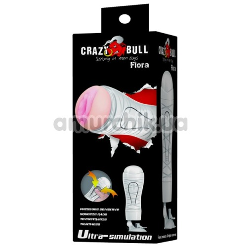 Мастурбатор Crazy Bull Flora 00900T48N, белый
