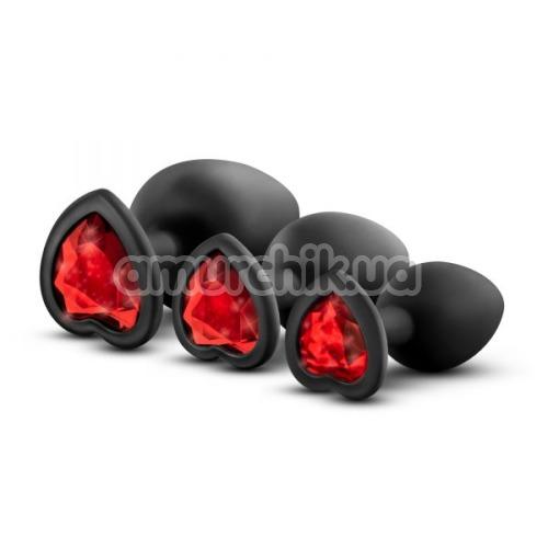 Набор анальных пробок Luxe Bling Plugs Trainer Kit, черный