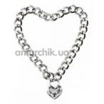 Ошейник Loveshop Heart, серебряный - Фото №1