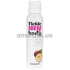 Массажная пена Love To Love Tickle My Body Passion Fruit - маракуйя, 150 мл - Фото №1