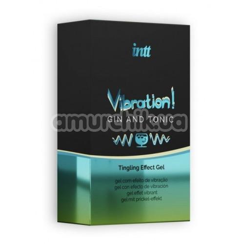Возбуждающий гель с эффектом вибрации Intt Vibration Gin Tonic Tingling Effect Gel - джин-тоник, 15 мл