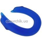 Двухконечный фаллоимитатор Double Ended Dolphin, синий - Фото №1