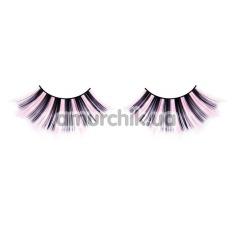 Ресницы Pink-Black Glitter Eyelashes (модель 519) - Фото №1