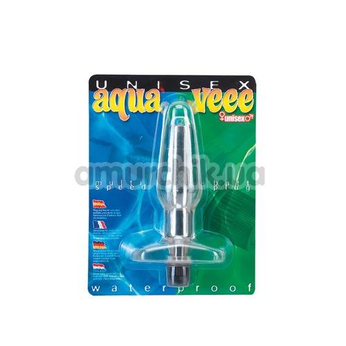 Анальная пробка с вибрацией Aqua Veee, прозрачная