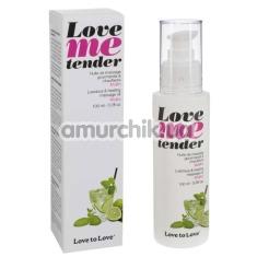 Массажное масло с согревающим эффектом Love To Love Me Tender Mojito - Мохито, 100 мл - Фото №1