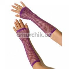 Перчатки Long Fishnet Gloves, фиолетовые - Фото №1
