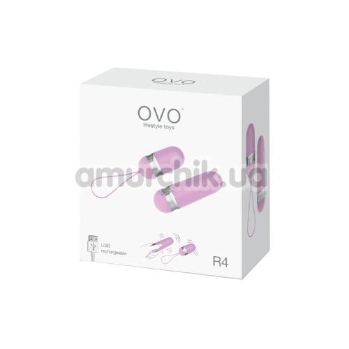 Виброяйцо OVO R4, розовое