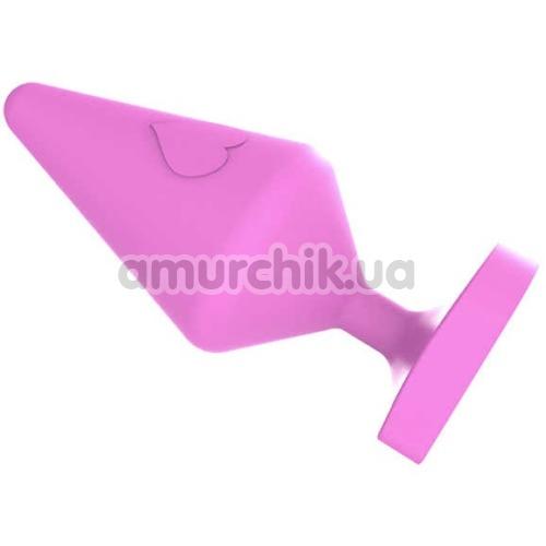 Анальная пробка MisSweet Luv Heart Plug Small, розовая