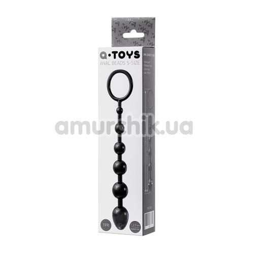 Анальная цепочка A-Toys Anal Beads 761310 S-Size, чёрная