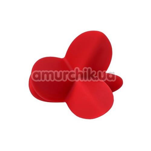 Анальная пробка ToDo Expander Plug Flower 9 см, красная