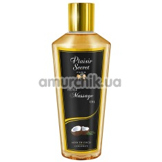 Массажное масло Plaisir Secret Paris Huile Massage Oil Coconut - кокос, 250 мл - Фото №1
