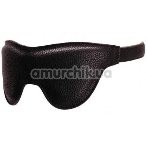 Маска на глаза Pornhub Faux Leather Mask, черная - Фото №1