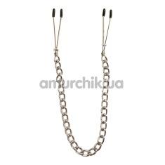 Зажимы для сосков Fetish Collection Metall-Busenkette, серебряные - Фото №1