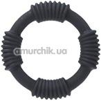 Эрекционное кольцо Adonis Silicone Ring Hercules, черное - Фото №1