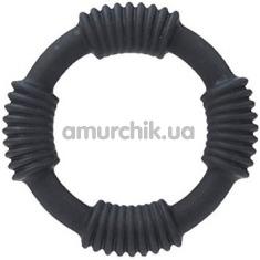 Эрекционное кольцо Adonis Silicone Rings Hercules, черное - Фото №1
